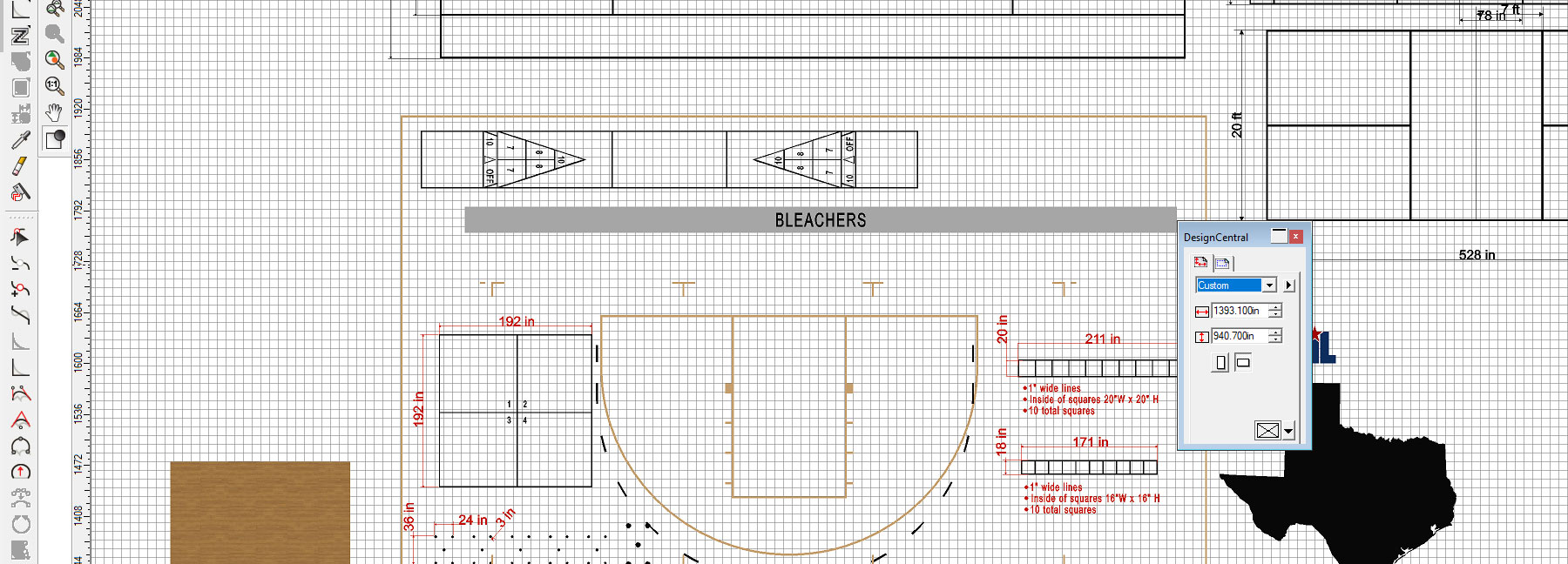 Court Layout – Submitting Artwork